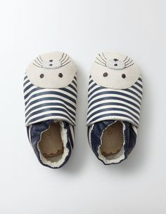 I love a baby shoe with a face with whiskers on it. Leather baby shoes from Boden #affiliate