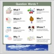 Question Words Digitally Printed Photo Roller Blind