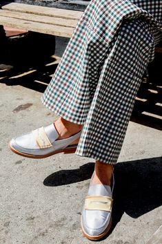These are not your grandma's loafers, but it may be her pants.