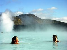 Warm up in Iceland. (Bathing in the Blue Lagoon shore excursion - Reykjavik, Iceland) #BlueLagoon