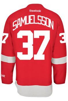 Detroit Red Wings Mikael SAMUELSSON  37 Official Home Reebok Premier  Replica Adu CoolHockey. Nhl Hockey JerseysDetroit ... eab5e8c28