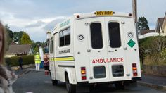 ambulances plus other older vintage health care transport vehicles