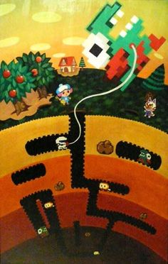 Great Dig Dug painting