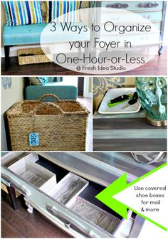 Easy Ways To Organize Your Foyer Or Entryway -