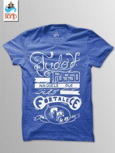 """R$39.90 Camiseta - """"Tudo posso"""" azul 100% algodão fio 30 penteado, malha macia com toque suave e estampa em serigrafia."""