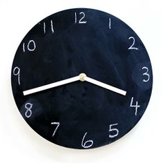 Make your own (easy!) chalkboard clock with this tutorial.
