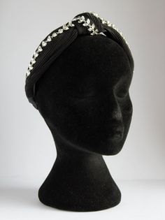 Knot Hairband with Diamond Trim, Sparkly Headpiece, Occasion Wear Special Occasion Outfits, Occasion Wear, Black Fabric, Hair Band, Different Styles, Headpiece, Knots, Detail, Diamond
