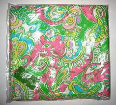 LILLY PULITZER Pink CHIN CHIN Elephant Monkey Tablecloth NWT NEW