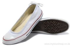 Discount Price Converse All Star Light Summer White Ballet Flats Dainty Ballerina Low Canvas Shoes Converse bf3vvtYd Specials Offer