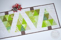 FREE PATTERN: Woodland Table Runner (from Sizzix/During Quiet Time)