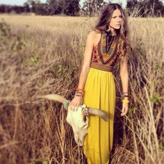 In love with this boho maxi! Absolutely gorgeous colours & one of my favourite cuts.