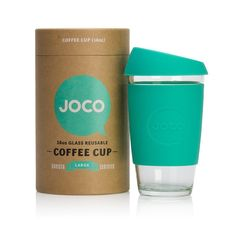 JOCO reusable glass coffee cups are a fantastic eco alternative to plastic