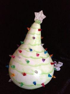 Light up Christmas Tree Gourd on Etsy, $45.00