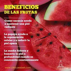 Las frutas son alimentos fundamentales cuando se quiere disfrutar de una vida sana, te dejamos unos cuantos consejos #frutas #piel #consejos #salud