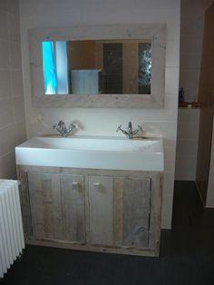 Grote foto steigermeubels mooie steigerhouten spiegels woning inrichting spiegels