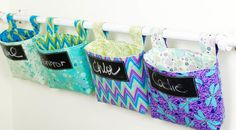 Sew Amazing Hanging Storage Baskets!