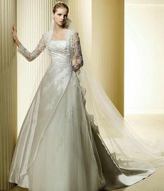 modest wedding dresses with long sleeves | Modest Long Dress