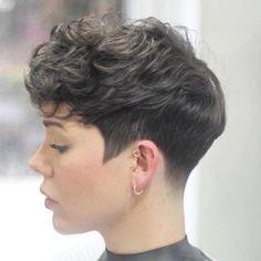 Pixie Haircuts for Thick Hair – 50 Ideas of Ideal Short Hair.- Pixie Haircuts for Thick Hair – 50 Ideas of Ideal Short Haircuts Tapered Pixie For Curly Hair - Curly Pixie Hairstyles, Pixie Haircut For Thick Hair, Undercut Hairstyles, Wavy Hair, Short Hair Cuts, Curly Hair Styles, Short Curly Hair, Pixie Cuts, Undercut Short Hair