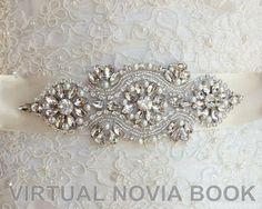 VIRTUAL NOVIA BOOK: Aplicaciones de pedrería para novia / Cinturones d...