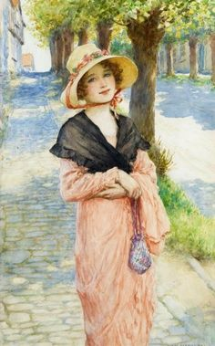 The Morning Walk ~ William Henry Margetson