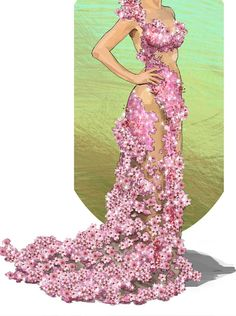 All About Jupiter Ascending's Swarovski Costumes == My NOTE=== I love Cherry Blossoms, I want to do this in an altered version of course Crazy Costumes, Movie Costumes, Theatre Costumes, Vestidos Vintage, Vintage Dresses, Gatsby, Space Fashion, Fashion Design, Blossom Costumes