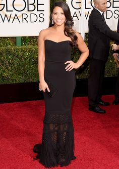 """Golden Globes Winner Gina Rodriguez On Fashion: """"I Don't Have a Sample-Size Body, and I'm OK With That."""" #InStyle"""