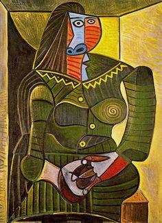 "surrealism-love: ""Woman in green via Pablo Picasso """