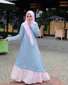 Islamic Fashion, Muslim Fashion, Teen Fashion, Womens Fashion, Muslim Dress, Hijab Dress, I Dress, Casual Hijab Outfit, Casual Dresses
