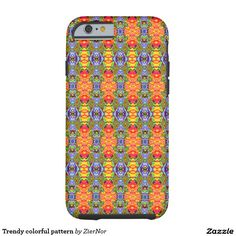 Trendy colorful pattern tough iPhone 6 case