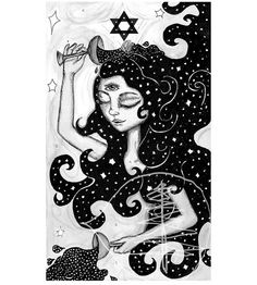 Tarot Card Art Print of The Star 8x10 Print  of Drawing  Limited Edition on Etsy, $18.00