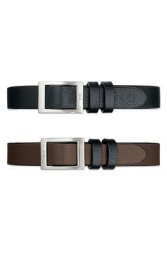KEEP Collective Unisex Band Black/Chocolate (longer length & square buckle)