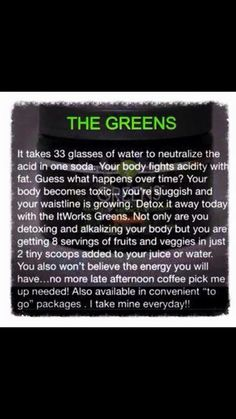 Have you tried the greens from itworks ? If not you should. Want to know more find me on Facebook.
