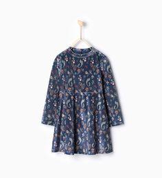 Printed velvet dress from Zara Girls