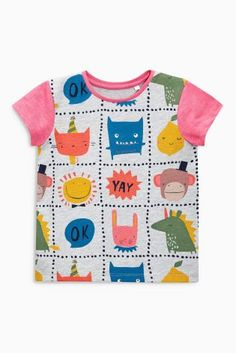 Buy Multi Character Print T-Shirt (3mths-6yrs) from the Next UK online shop