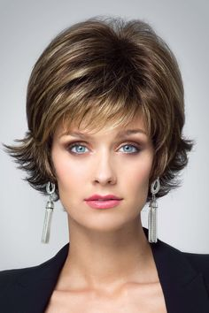 6ef70b3f8 Disconnected wispy texture is the charm of this short look wig.Length:  Fringe 4