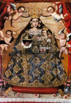 pacamamacosta | sábado, 12 de febrero de 2011 Pintura Colonial, Colonial Art, Catholic Art, Religious Art, Mama Mary, Mary And Jesus, Holy Mary, Southwest Art, Madonna And Child