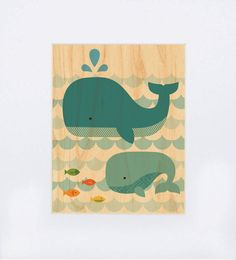 Whale Baby Print