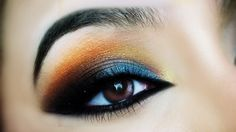 Multi Color Arabic Look 1. Apply neptune star from Revlon about half way on the eyelid. 2. Use the crease color in i'm getting sunburned from Wet 'n' Wild. 3. Use the orange color in the Sephora smokey studio. We'll use the orange color to smoke it out with the brown color.4. Apply a highlight. I'm just gonna use the light highlight color in the elf little beauty book (warm). You can use any other highlight but thats not shimmery. 5. Applythe gold color, with a green undertone thats in…