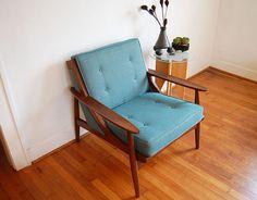 Vintage Arm Chair Mid Century Modern Danish Modern Selig Style on Etsy, $400.00
