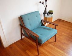 Vintage Arm Chair Mid Century Modern Danish Modern Selig Style on Etsy, $400.00
