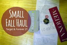 Hey There Ray: Small Fall Haul - Target & Forever 21
