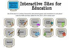 These activities work great with your SMARTboard or interactive  whiteboard for whole group or small group instruction or use in the computer lab  or at home for individual learning. Choose from fun, educational, interactive games and simulations for math, english language arts, science, social studies, brainteasers, music, art, holidays and more!