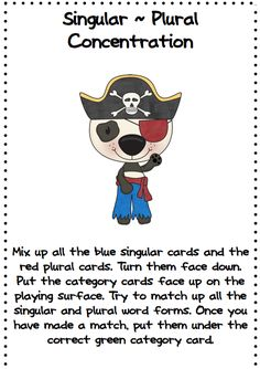 Lots of irregular plurals books pinterest irregular plurals here is a fun freebie for your kids to use to practice singular and plural forms fandeluxe Gallery