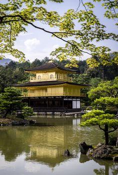 金閣寺(鹿苑寺) - Golden temple - one of famous temples in Kyoto Japan.