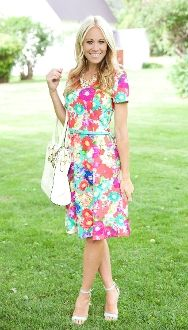 New ADORABLE floral print dress available at The Nest on Main!! PIN it if you LOVE it!!