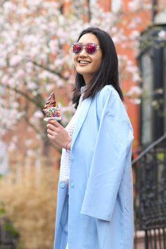 City Foodie eating Big Gay Ice Cream, West Village