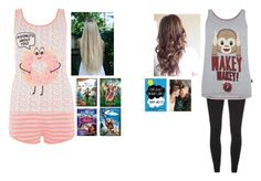 """""""Sleepover"""" by christina-cookie ❤ liked on Polyvore featuring Disney"""