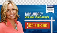 "Billboard for a long time home staging realtor with a smile by "" Z """