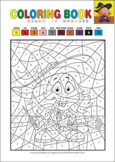 ausmalbilder halloween - malen nach zahlen - kostenlos ausmalbilder herunterladen, ausdru