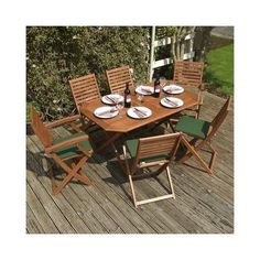 Table Dining Chairs New Garden Patio Decking Cushions Set Wood BBQ Furniture